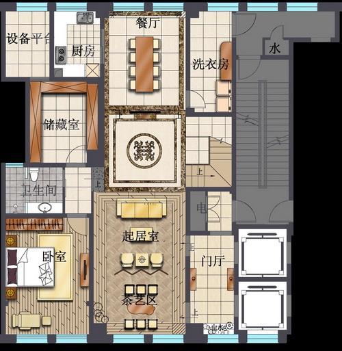 别墅厨房设计平面图